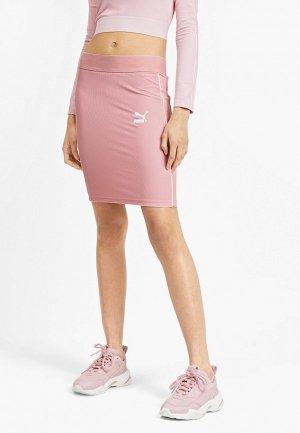 Юбка PUMA. Цвет: розовый