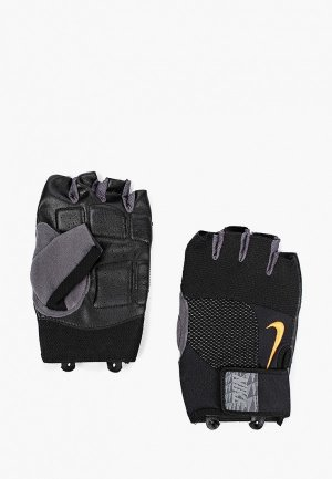 Перчатки для фитнеса Nike. Цвет: черный