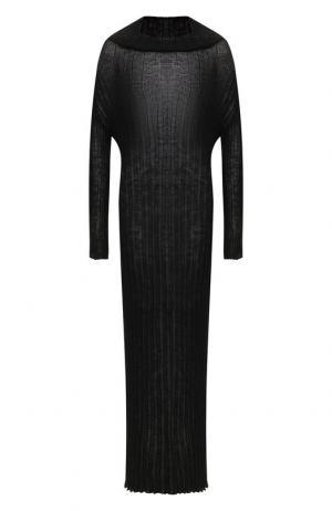 Платье-макси со спущенным рукавом Ann Demeulemeester. Цвет: темно-серый