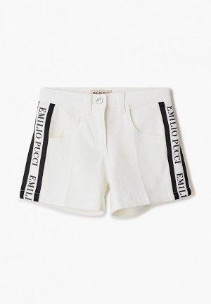 Шорты джинсовые Emilio Pucci. Цвет: белый