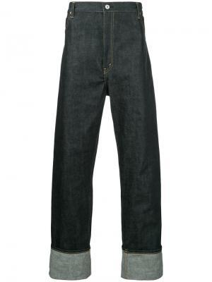 Широкие джинсы Junya Watanabe Comme Des Garçons Man. Цвет: синий