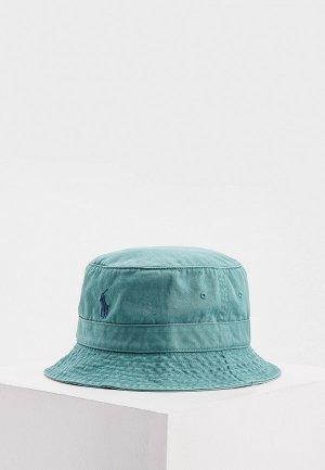 Панама Polo Ralph Lauren. Цвет: бирюзовый