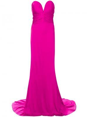 Платье-корсет Alexandre Vauthier. Цвет: розовый и фиолетовый