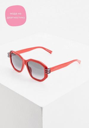 Очки солнцезащитные Givenchy. Цвет: красный