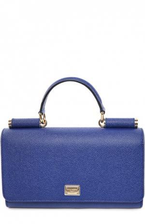 Сумка Sicily Von на цепочке Dolce & Gabbana. Цвет: синий