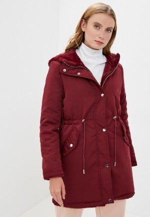 Куртка утепленная Mallanee. Цвет: бордовый