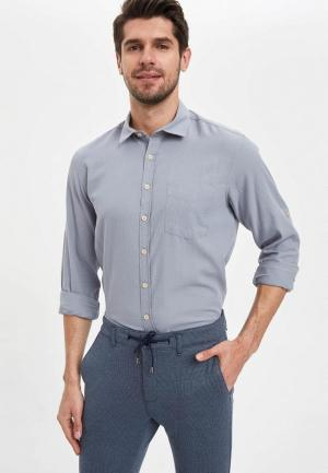 Рубашка DeFacto. Цвет: серый