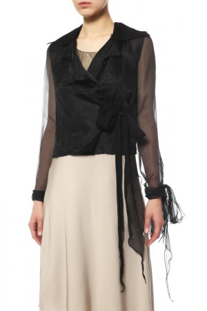 Блуза Angelo Mozzillo. Цвет: черный
