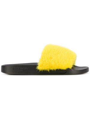 Сланцы с открытым носком Givenchy. Цвет: жёлтый и оранжевый
