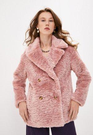 Шуба Trussardi Jeans. Цвет: розовый