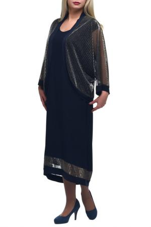Платье + накидка OLSI. Цвет: мультицвет