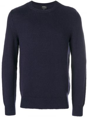 Crew neck jumper A.P.C.. Цвет: синий