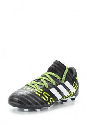 Бутсы adidas. Цвет: черный