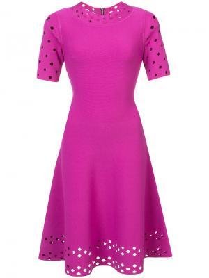 Платье с перфорацией Milly. Цвет: розовый и фиолетовый