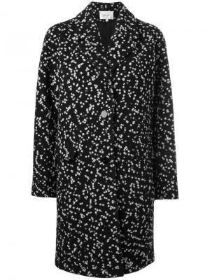 Твидовое пальто Carven. Цвет: чёрный