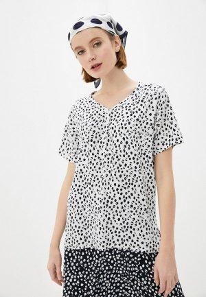 Блуза Luhta. Цвет: белый