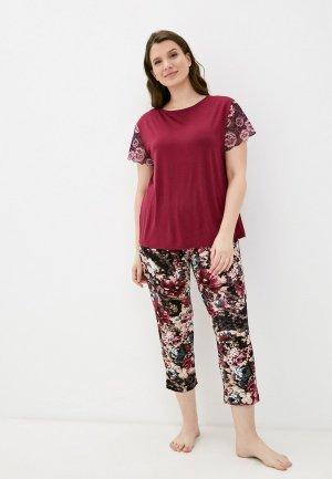 Пижама Rene Santi. Цвет: бордовый