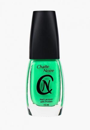 Лак для ногтей Chatte Noire. Цвет: зеленый