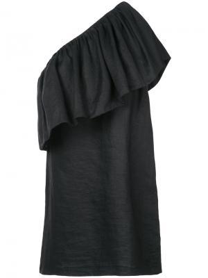 Платье на одно плечо Mara Hoffman. Цвет: чёрный