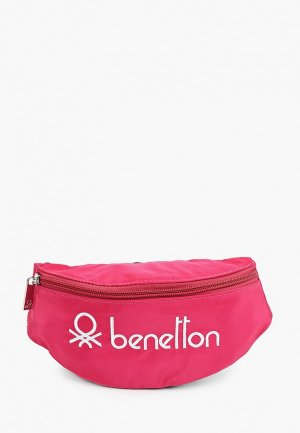 Сумка поясная United Colors of Benetton. Цвет: розовый