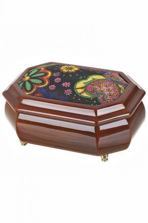 Шкатулка для украшений ARTHOUSE. Цвет: коричневый