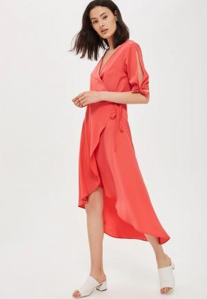 Платье Topshop. Цвет: коралловый