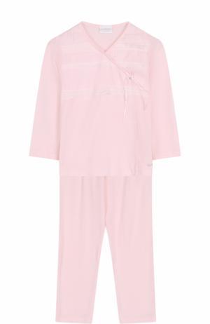Пижама с кружевной отделкой La Perla. Цвет: розовый
