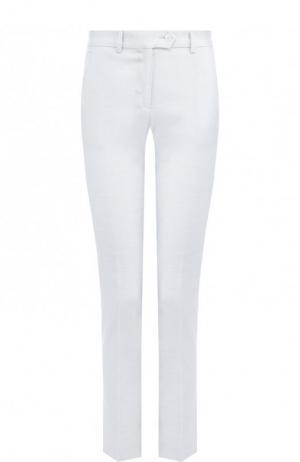 Укороченные брюки из смеси льна и вискозы Kiton. Цвет: светло-серый