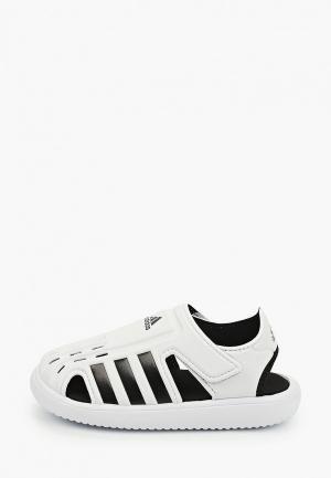 Сандалии adidas. Цвет: белый