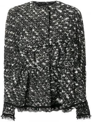 Твидовый пиджак Giambattista Valli. Цвет: чёрный