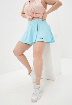 Юбка-шорты Nike. Цвет: бирюзовый
