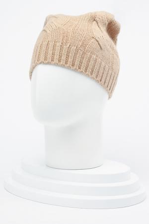 Вязаная шапка ELISABETH. Цвет: бежевый