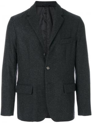 Однобортный пиджак Aspesi. Цвет: серый