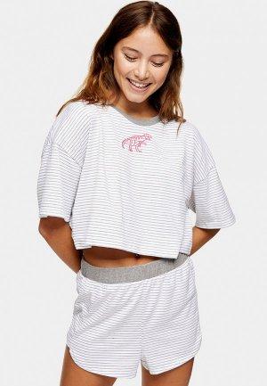 Пижама Topshop. Цвет: белый
