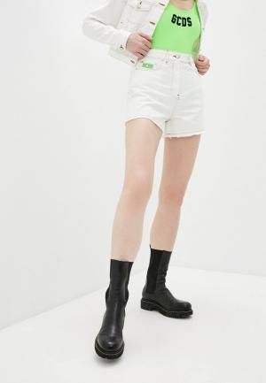 Шорты джинсовые GCDS. Цвет: белый