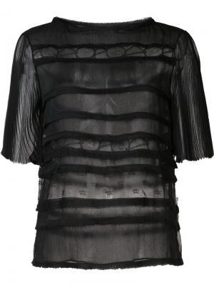 Полупрозрачный топ с панельным дизайном Jason Wu. Цвет: чёрный