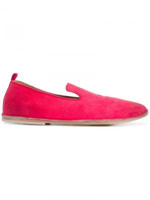 Слиперы с закругленным носком Marsèll. Цвет: розовый и фиолетовый