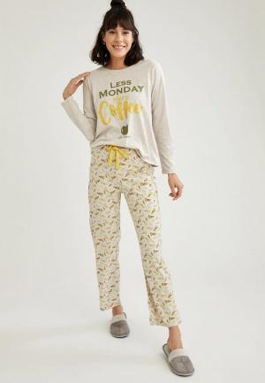 Пижама DeFacto. Цвет: бежевый