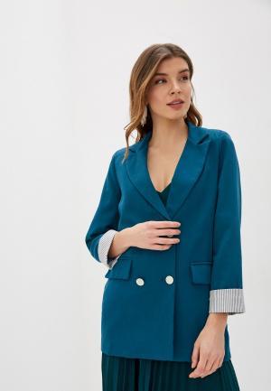 Пиджак Modelle. Цвет: бирюзовый