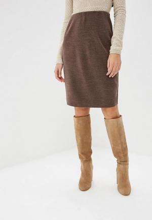 Юбка Milana Style. Цвет: бежевый