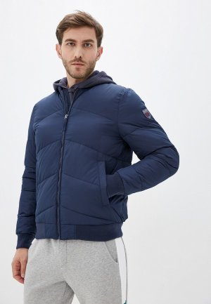 Куртка утепленная Izod. Цвет: синий