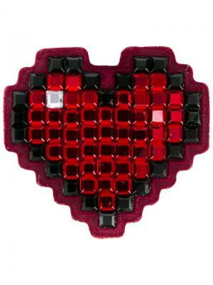 Стикер Heart с отделкой стразами Anya Hindmarch. Цвет: красный