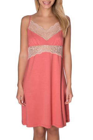 Сорочка ночная ROSE&PETAL HOMEWEAR. Цвет: коралловый