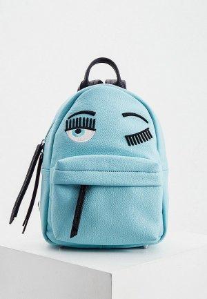 Рюкзак Chiara Ferragni. Цвет: голубой