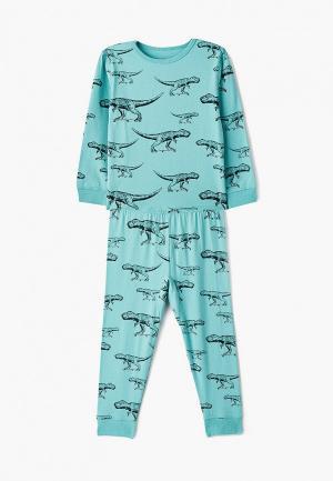 Пижама Cotton On. Цвет: бирюзовый