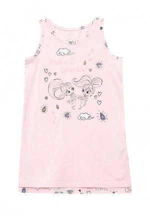 Сорочка ночная Button Blue. Цвет: розовый