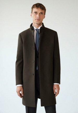 Пальто Mango Man. Цвет: коричневый