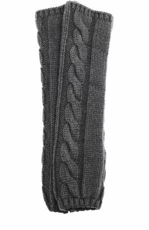 Вязаные митенки из кашемира Kashja` Cashmere. Цвет: темно-серый