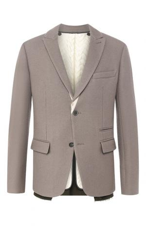 Однобортный пиджак из шерсти Haider Ackermann. Цвет: серый