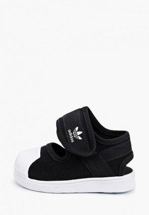Сандалии adidas Originals. Цвет: черный
